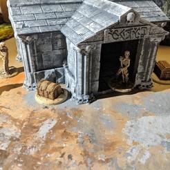Imprimir en 3D gratis Fantasy Wargame Terrain - Mausoleo de Nigromantes/Criptología, Sablebadger