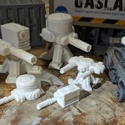 Download free 3D printer templates Gaslands - Auto Turrets/Sentry Turrets, Sablebadger