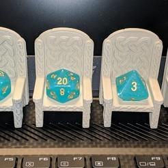 IMG_20190124_212906.jpg Download free STL file Dice Thrones - Knotwork/Celtic - Fits all standard Polyhedral dice • 3D printable template, Sablebadger