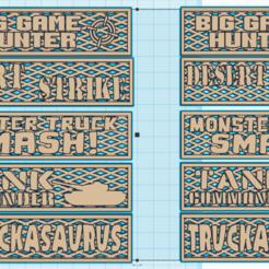 Download free 3D model Gaslands - Gate Signs for Races/Events, Sablebadger
