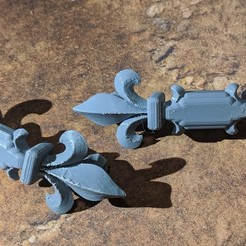 Download free 3D printing designs Fancy cabinet or drawer handle, Sablebadger