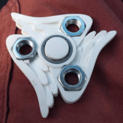 Descargar diseños 3D gratis Girador alado Fidget Spinner, Sablebadger