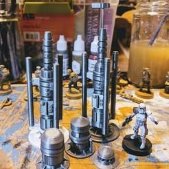 Descargar diseños 3D gratis Star Wars Legion Terrain - Vaporizador de humedad, Sablebadger
