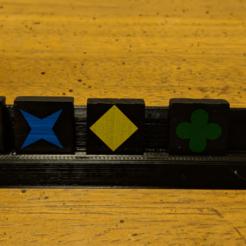 quirkle-tray-2.png Télécharger fichier STL gratuit Qwirkle Tile Tray (pour carrelage version voyage) • Plan à imprimer en 3D, Sablebadger