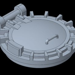 Download free 3D printer templates Hatch for frame chimera W40k, Gotrek