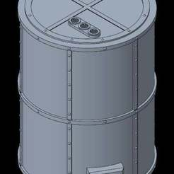 1.jpg Download free STL file Refinery tanker modular for 40k tabletop • 3D print template, Gotrek