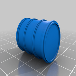 Download free STL files Barrel for 28mm game (H:20mm/ø16), Gotrek