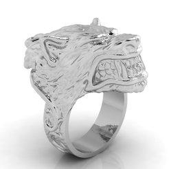 Descargar archivo 3D Mens Wolf Ring Modelo de impresión en 3D, VGmod