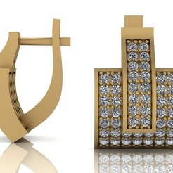 Download 3D printer files Jewelry earrings 3D print model, VGmod