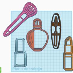 kit makeup.PNG Télécharger fichier STL BISCUITS DE MAQUILLAGE ET DE BEAUTÉ • Modèle pour impression 3D, Helen_noni