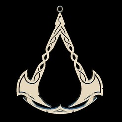 1.jpg Download STL file Assassin's creed valhalla Pendant • 3D printable template, leonardomurilo