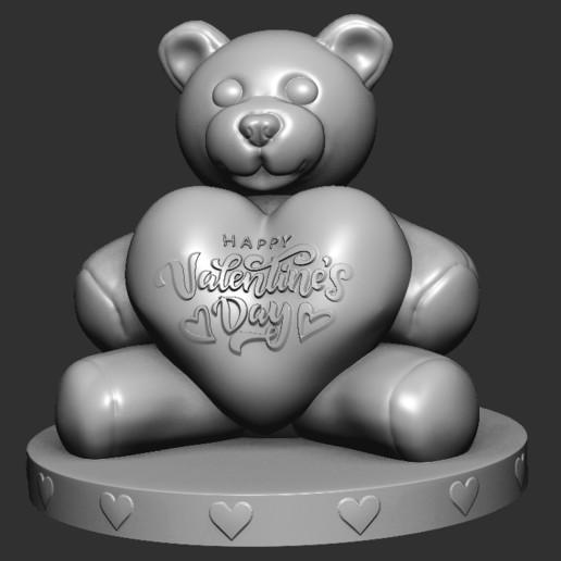 Télécharger fichier impression 3D gratuit L'ours de la Saint-Valentin, CYANIDE