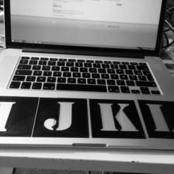 Descargar diseños 3D gratis la plantilla del alfabeto, EATYone