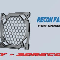 Recon_Fanguard_LOGO.png Download STL file Recon PC fanguard 120mm • 3D printer template, 3D-Recon