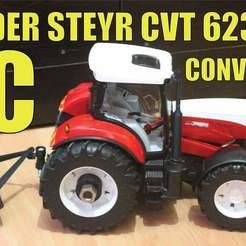 Impresiones 3D gratis Bruder Steyr Cvt 6230 Conversión Rc, CustomHogluGarage