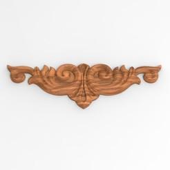 bas relief 001 R7.jpg Download STL file Bas relief 001 decoration of furniture, plaster, fimo flower motif • 3D printer template, Vape