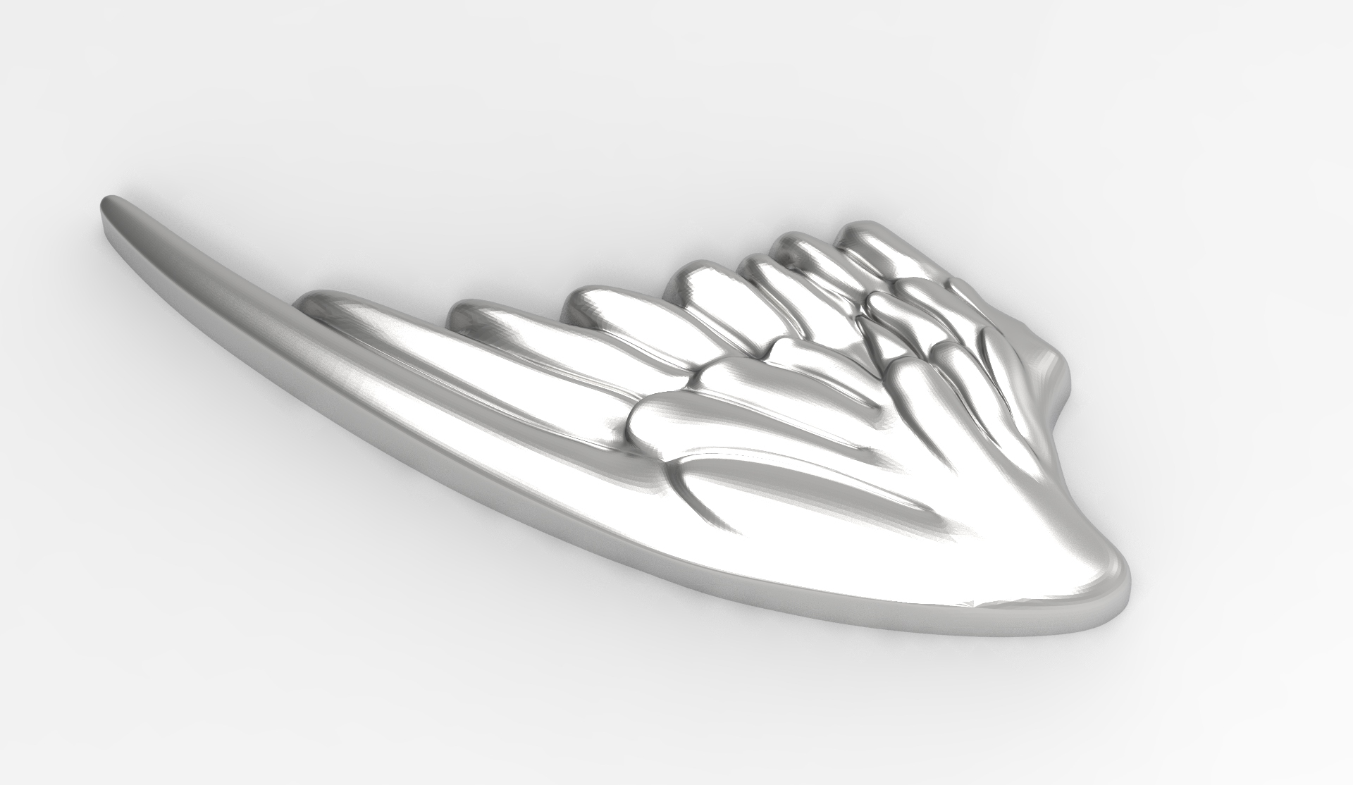 AILES r5.jpg Download STL file Wings in low relief angel bird sculpture plaster wood • Object to 3D print, Vape