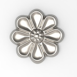 Download STL file Rosette ref001 rosette interior decoration plaster ornament • 3D printer model, Vape