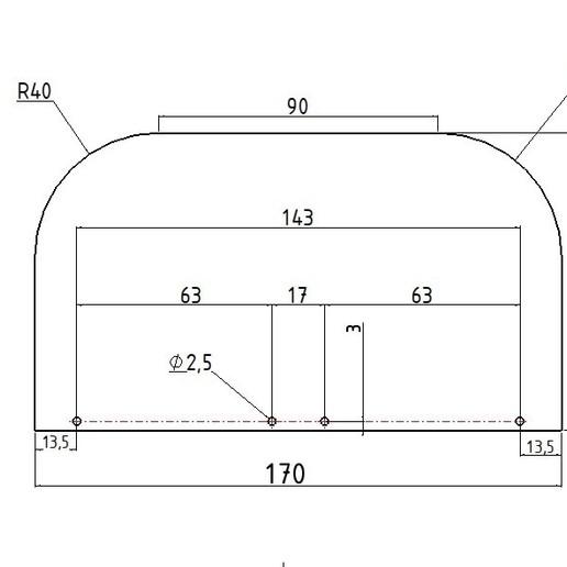 GABARIT MINI VISIERE.jpg Télécharger fichier STL Couvre bouche Mini visière buccale protection covid • Objet à imprimer en 3D, Vape