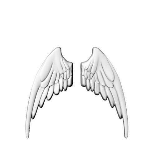 AILES r1.jpg Download STL file Wings in low relief angel bird sculpture plaster wood • Object to 3D print, Vape