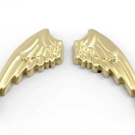 AILES R9.jpg Download STL file Wings in low relief angel bird sculpture plaster wood • Object to 3D print, Vape