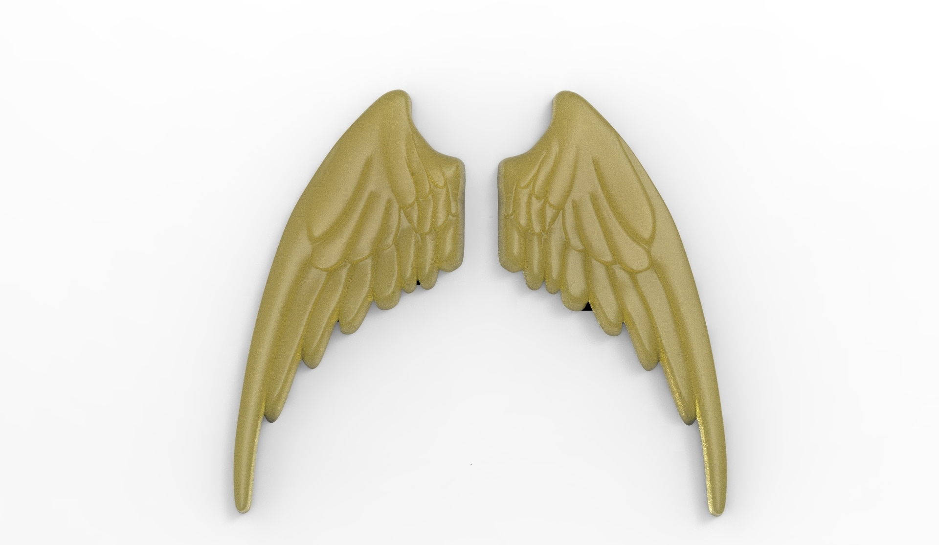 AILES R8.jpg Download STL file Wings in low relief angel bird sculpture plaster wood • Object to 3D print, Vape