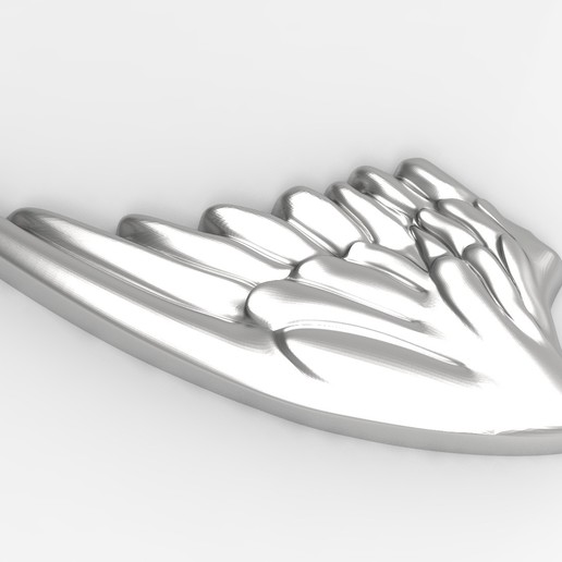 AILES r6.jpg Download STL file Wings in low relief angel bird sculpture plaster wood • Object to 3D print, Vape