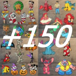 pack 150.jpg Download STL file Pack of 150 Disney ornaments • 3D printing object, DG22