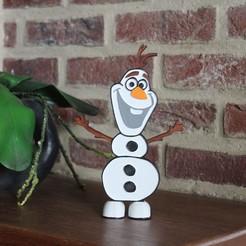 Imprimir en 3D Stand de decoración de Olaf, DG22