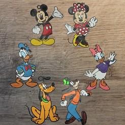 Download STL files Pack 6 Disney Mickey ornaments pack 2, DG22