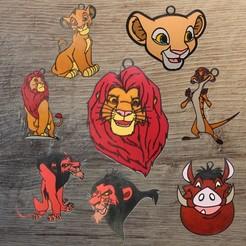 Descargar archivos 3D Disney El Rey León 8 Adornos pack 2, DG22