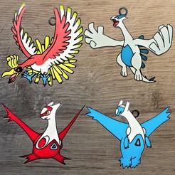 Pokemon oiseaux leg.jpg Télécharger fichier STL Lot 4 ornements Oiseaux Légendaires • Design imprimable en 3D, DG22