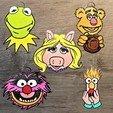 Muppet show all face.jpg Télécharger fichier STL Lot de 100 Ornements • Design pour impression 3D, DG22