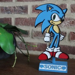 Download 3D printing files SONIC STAND DECORATION PLATE, DG22