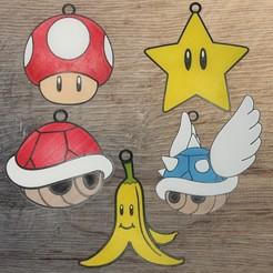 Download 3D printer templates Set 5 Mario Ornaments Item, DG22