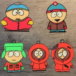 south park.jpg Download OBJ file Lot 5 South Park Ornaments • Model to 3D print, DG22