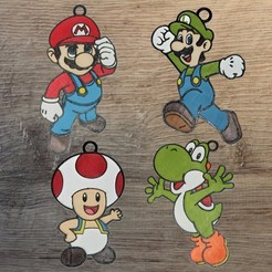 Mario perso.jpg Download STL file Set of 4 Mario ornaments • 3D print model, DG22