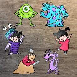 monster inc.jpg Download STL file Lot 6 Disney Monster inc. ornaments • Model to 3D print, DG22