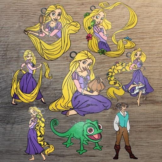 Download Stl File Set Of 8 Disney Tangled Ornaments 3d Printable Model Cults