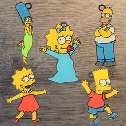 Simpson.jpg Download STL file Lot 5 Simpson Ornaments • 3D printable design, DG22