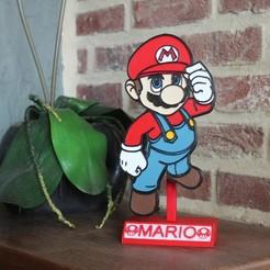 Descargar STL Placa de decoración de stand Mario, DG22