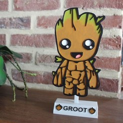 87961028_611536992740323_6446068590658453504_n2.jpg Download STL file STAND BABY GROOT DECORATION PLATE • 3D print design, DG22