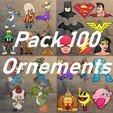 Pack 100.jpg Télécharger fichier STL Lot de 100 Ornements • Design pour impression 3D, DG22