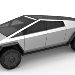 Download 3D printing designs Tesla CyberTruck 3D Model, unluckyxtremest