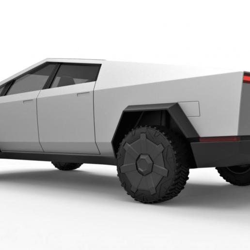 Download STL file Tesla CyberTruck 3D Model • Object to 3D ...