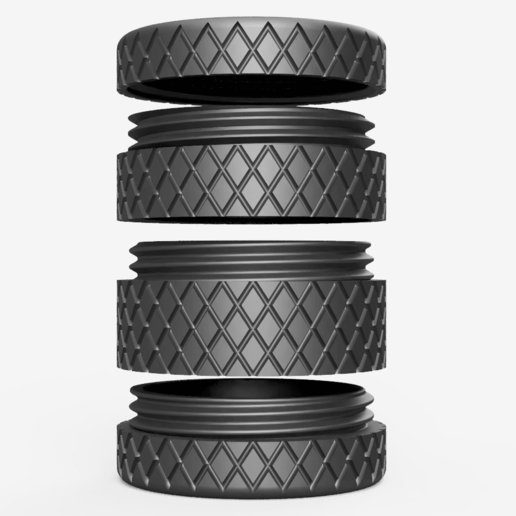 Render.png Download free STL file Round container with infinity height • 3D printing model, VICLER