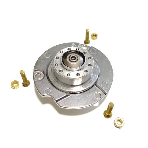 IMG_20190106_115750.jpg Download free STL file Anycubic Kossel HDD Motor Top Spool Holder • 3D printer design, VICLER