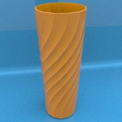 render vaso 13 twist.jpg Descargar archivo STL vaso 13 caras espiral • Diseño para imprimir en 3D, fuchoh3