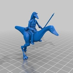 17cf3a2b7c79c371c020d39392fbaa0d_preview_featured.jpg Download free STL file gungan cavalry star wars • 3D printing object, sullyvan57