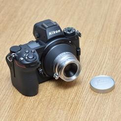 Leitz Summaron 3.5cm f3.5.jpg Download STL file Adapter for Leica L39 M39 lenses to Nikon Z cameras • 3D printing object, vintagelens